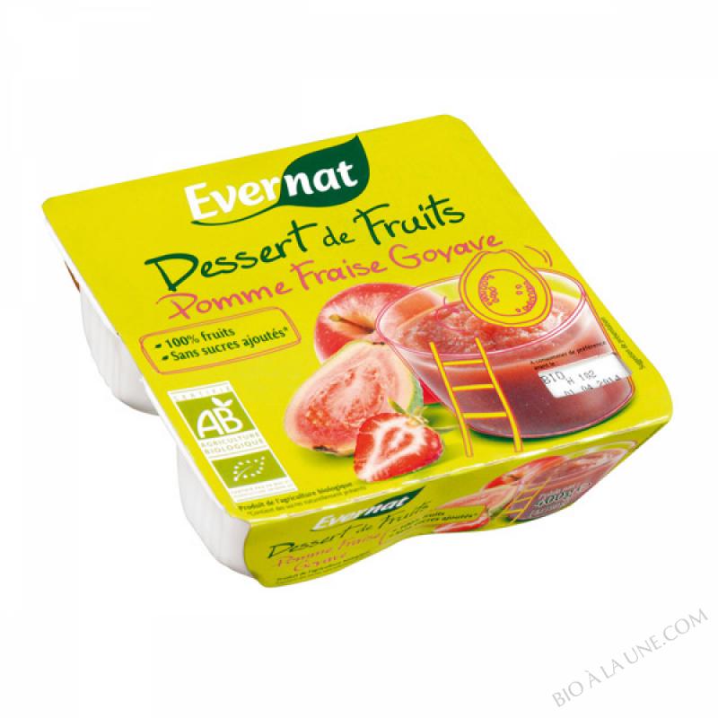 Dessert de Fruits Pomme Fraise Goyave 4x100g