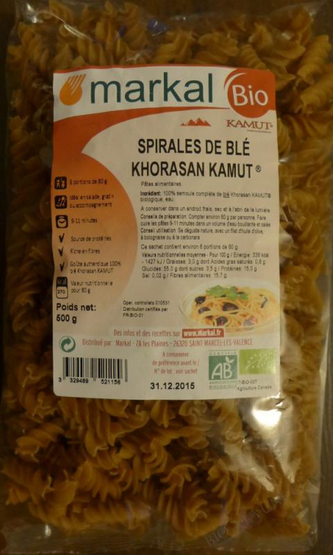 SPIRALES AU BLE khorasan KAMUT® - 500g