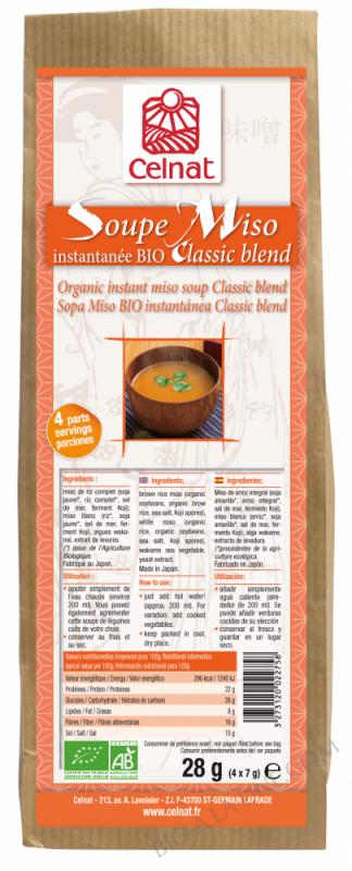 CELNAT Soupe Miso Instantanée
