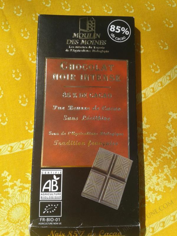 Chocolat noir intense 85% de cacao bio - 100g