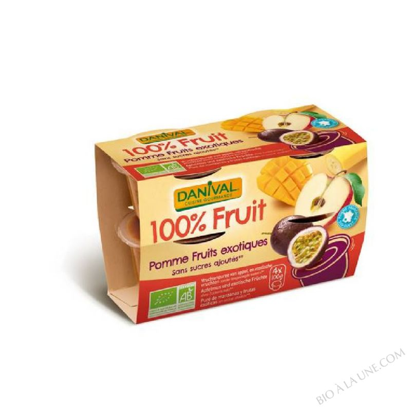 Compote pomme fruits exotiques