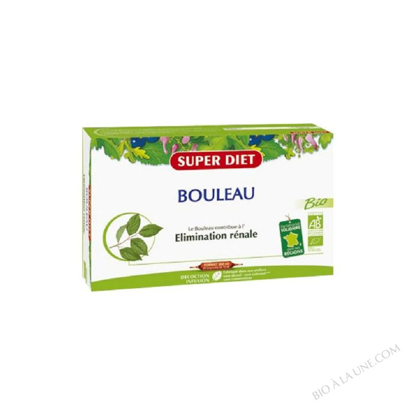 BOULEAU AMPOULES 15ML (20) SUPER DIET