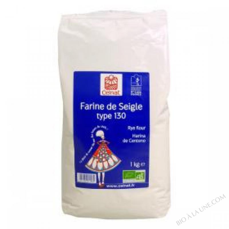 CELNAT Farine de Seigle Type 130 BIO - 3KG