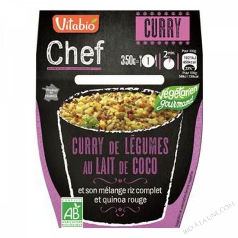 CURRY DE LEGUMES AU LAIT DE COCO 350G