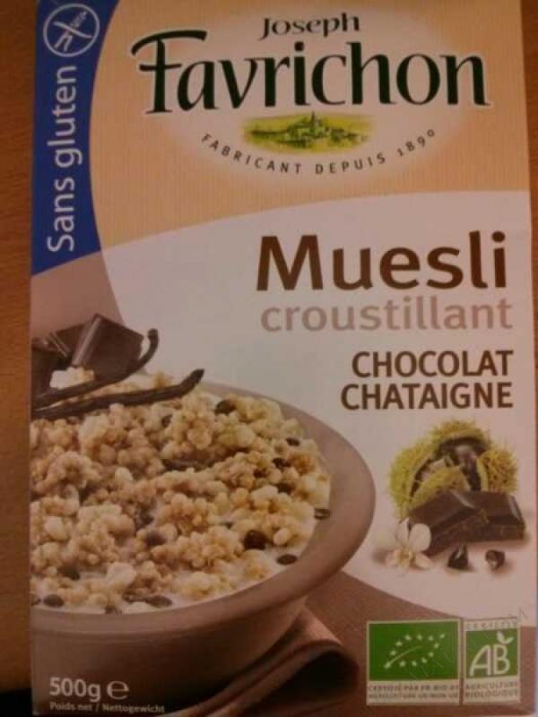 Muesli croustillant Chocolat Châtaigne- 500 g