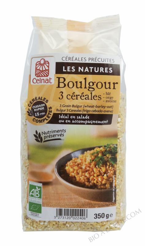 CELNAT Boulgour 3 Céréales BIO - 350g