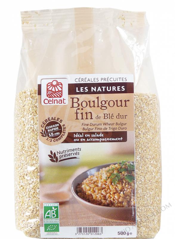 CELNAT Boulgour fin de blé dur demi-complet BIO - 500g