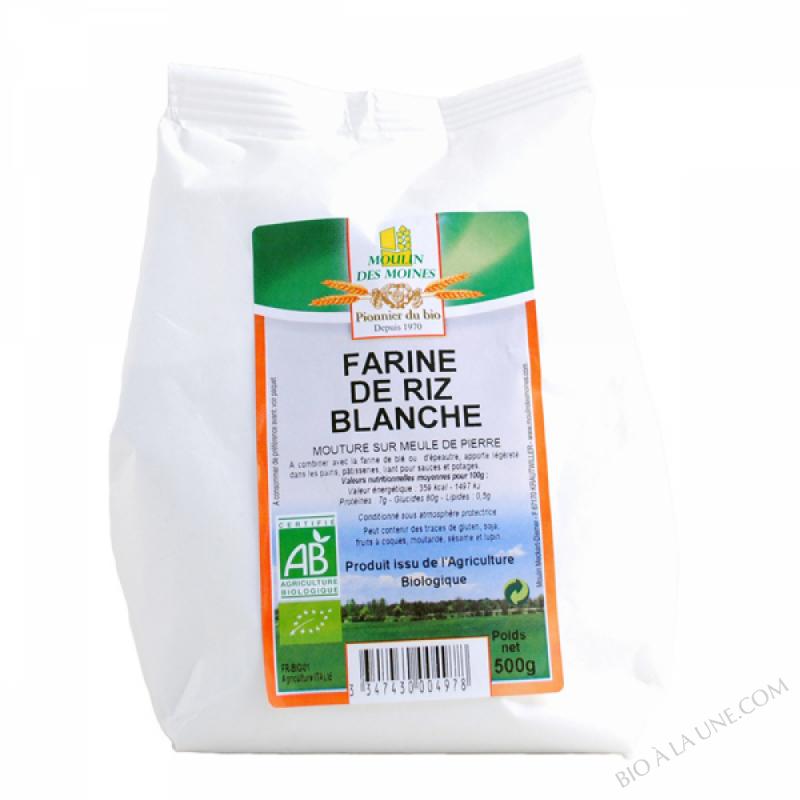 Farine de riz blanche bio - 500g