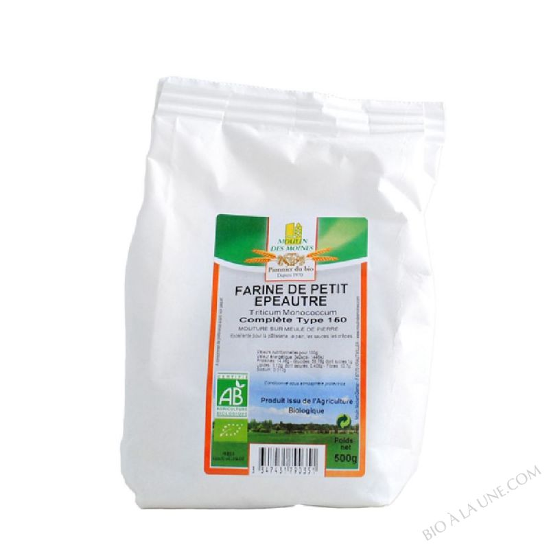 Farine de petit epeautre complete T150 - 500g