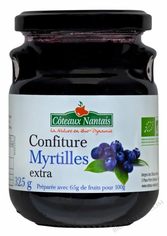 Confiture myrtilles extra 325 g