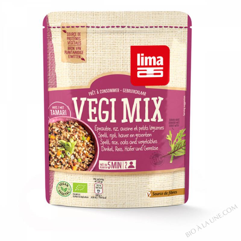 Vegi Mix epeautre Riz Avoine Petits Legumes 250g