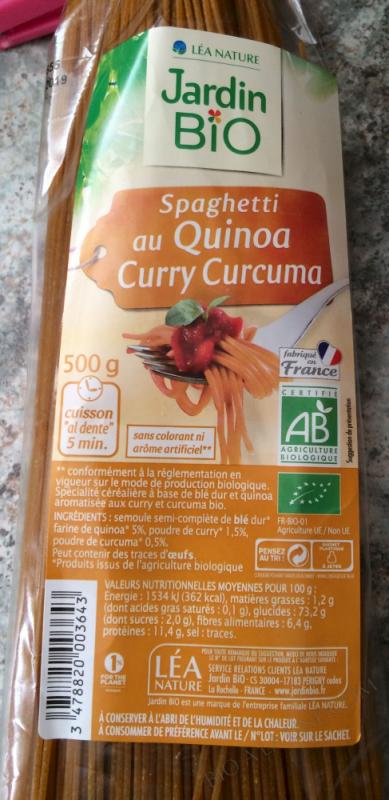 SPAGHETTI AU QUINOA CURRY CURCUMA
