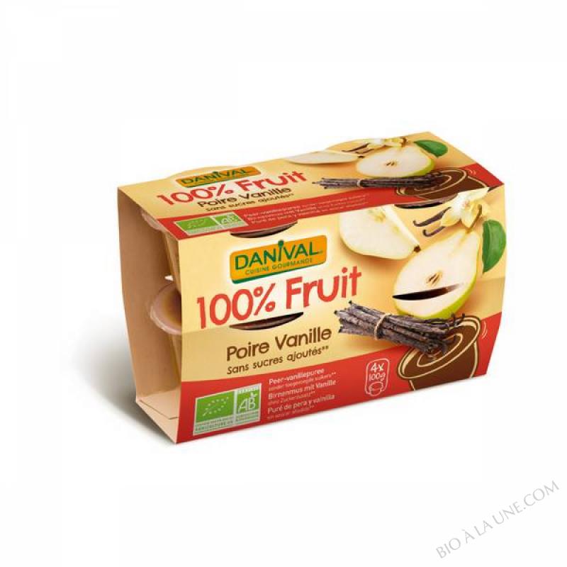 Puree Poires vanille BIO 4 x 100g