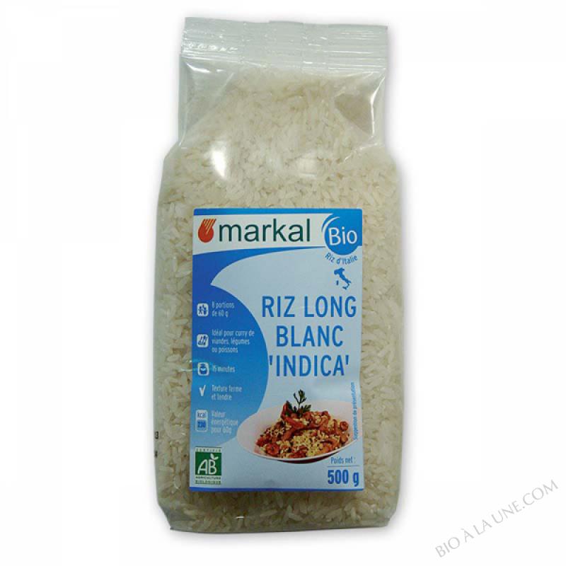Riz long blanc Indica 500g