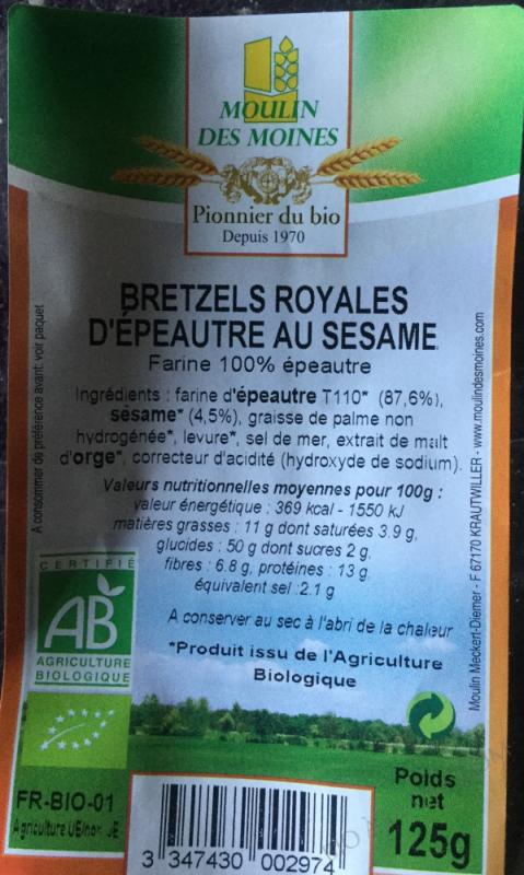 Bretzels Royales Epeautre BIO 125g