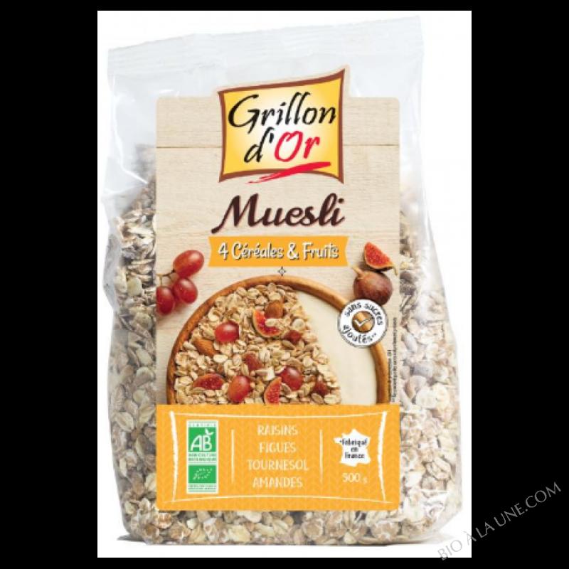 Muesli 4 cereales et fruits 500g