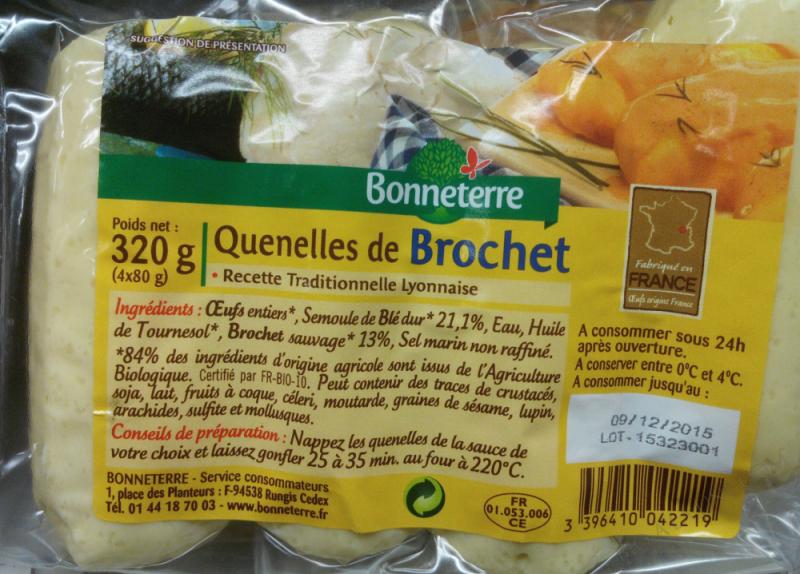 QUENELLES DE BROCHET X4 - 320 G