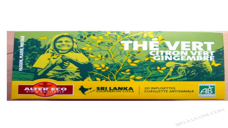The Vert Bio Citron vert Gingembre - 40g