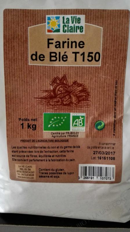 Farine de blé intégrale T150 - 1kg