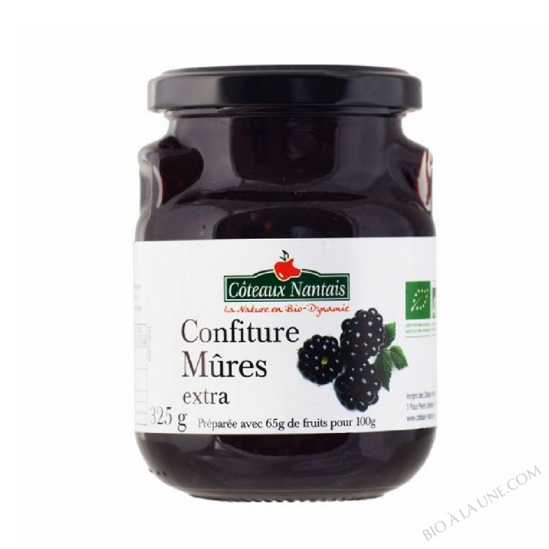 Confiture mûres extra 325 g