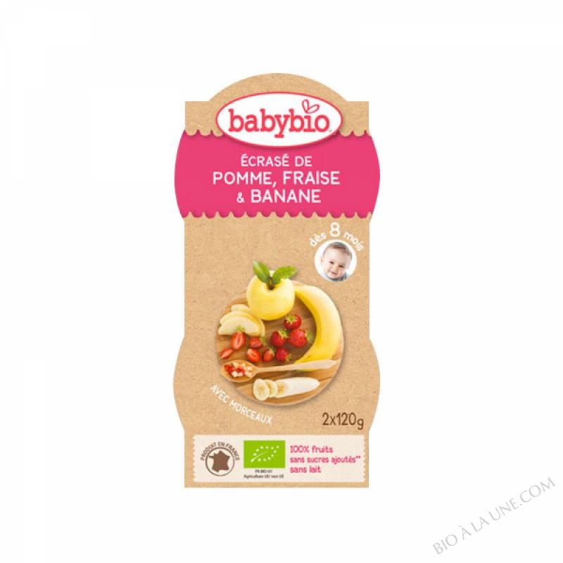 Bols Ecrase Pomme Fraise Banane - 2 x 120g