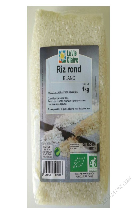 Riz rond blanc- 1 kg