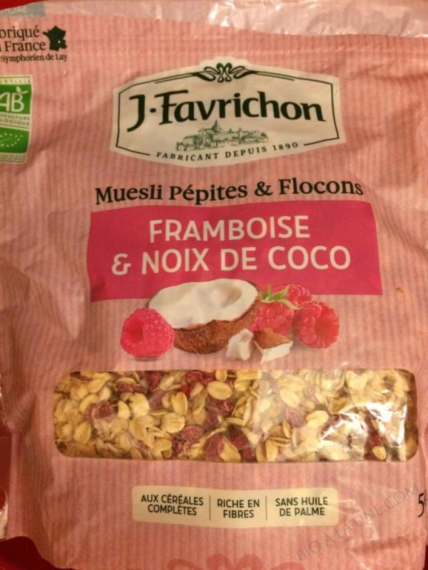MUESLI PEPITES & FLOCONS FRAMBOISE NOIX DE COCO - 500 g