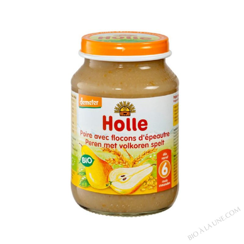 Petit pot poire aux flocons d'epeautre 4 mois 190g