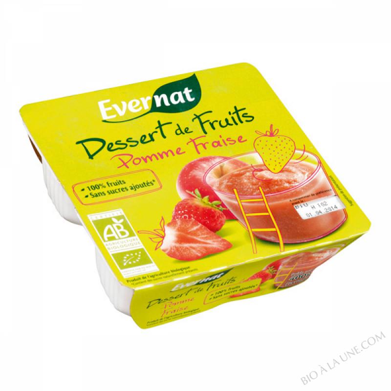 Dessert de Fruits Pomme Fraise 4x100g