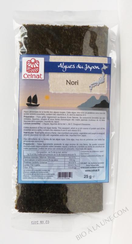 CELNAT Nori - Algues - 25g