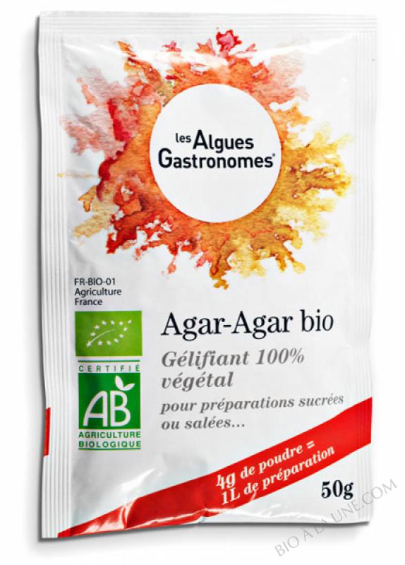 AGAR-AGAR POUDRE – 5X4G BIO - 20 G