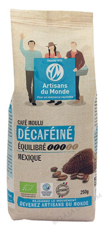 CAFÉ DÉCAFÉINÉ MEXIQUE MOULU - 250G