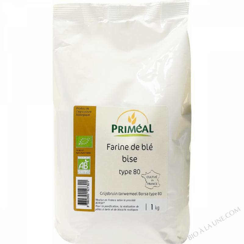Farine Bise de Ble Bio T80