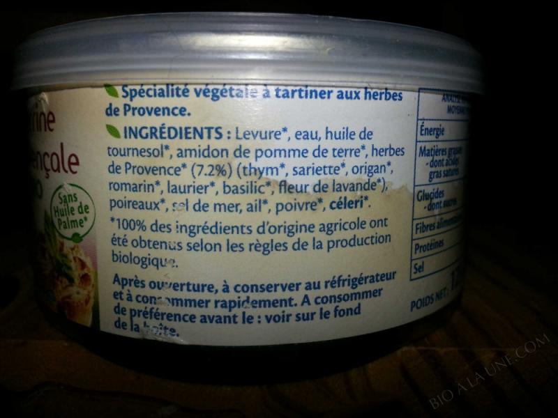 Terrine vegetale provencale 125g
