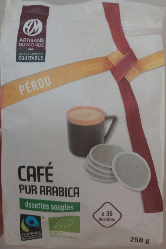 CAFÉ PUR ARABICA DOSETTES SOUPLES PÉROU- 250 G