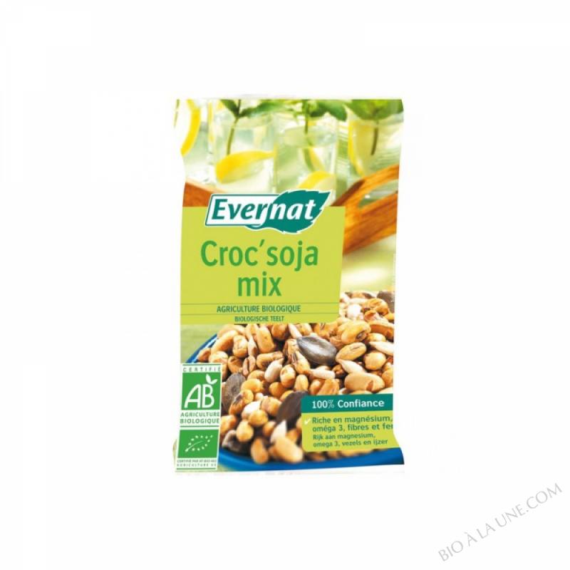 CROC SOJA MIX(MIX DE GRAINES GRILLEES SALEES) - 55 G