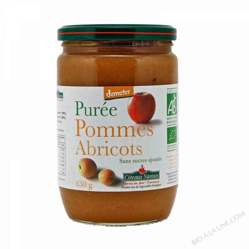 Puree pommes abricots Bio et Demeter 630g