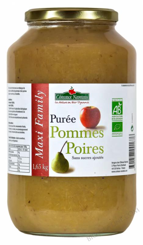 Purée pommes poires 1,65 kg