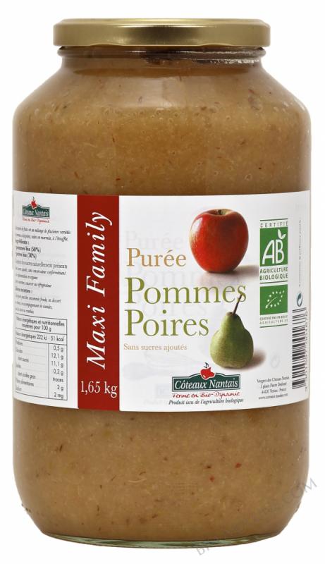 Puree pommes poires Bio 1,65kg