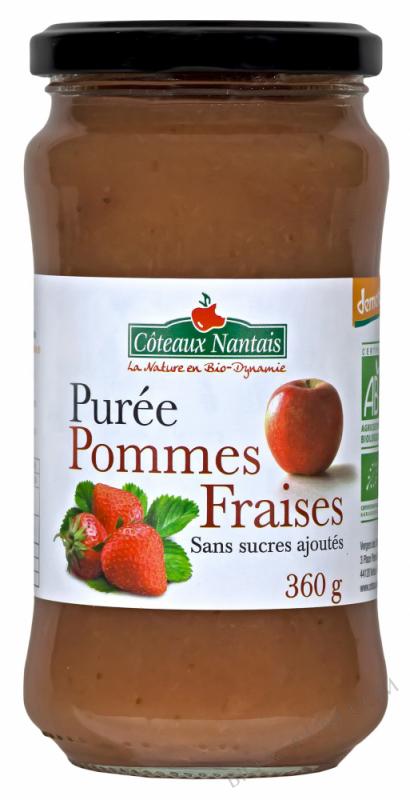 Purée pommes fraises 360 g Demeter