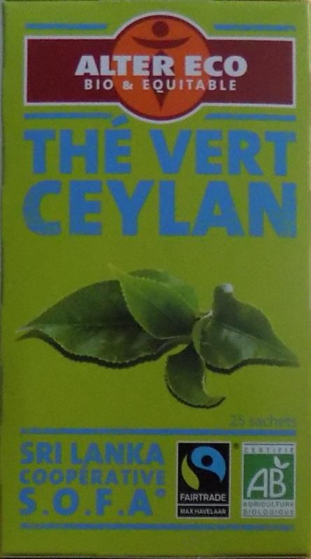 The vert Ceylan Bio - 40g