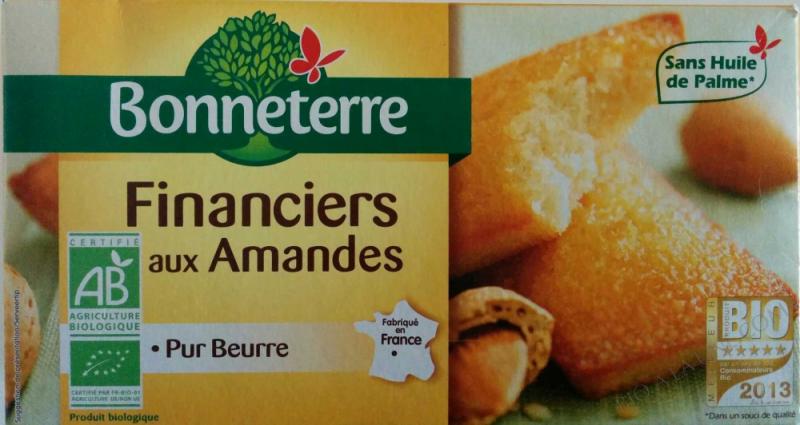 FINANCIERS AUX AMANDES (PUR BEURRE) 150GR