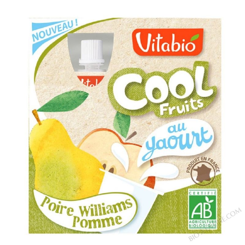 Cool Fruits Yaourt Pomme Poire - 4 x 85g