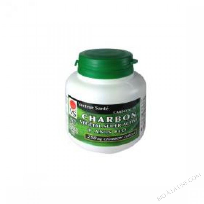 Charbon vegetal super active à l'Anis Carbo'activ 60 gel