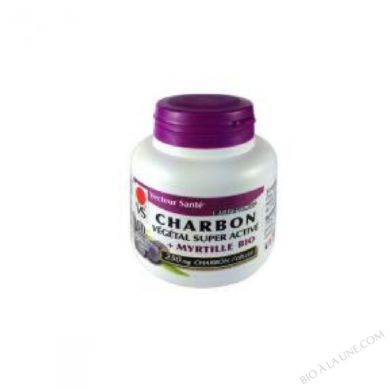 Charbon vegetal super active à la Myrtille Carbo'activ 60 gel