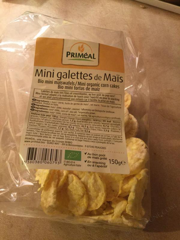 mini galettes de maïs - 150 g