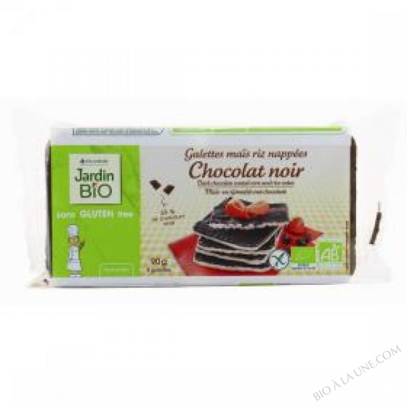 Galettes mais riz nappees Chocolat noir sans gluten 90 g