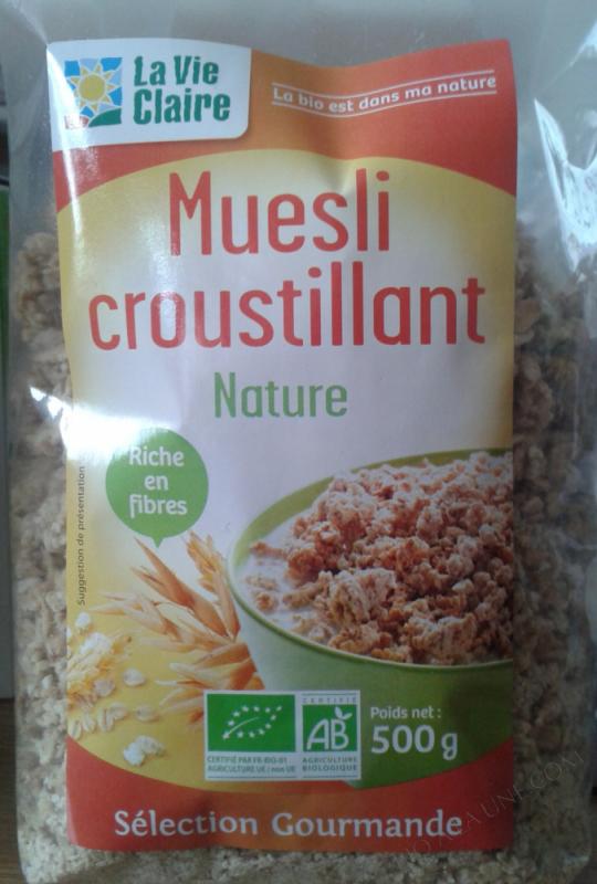 Muesli croustillant Nature- 500 g