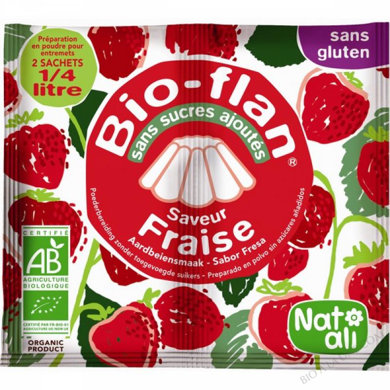 Bioflan Fraise sans sucre 8g