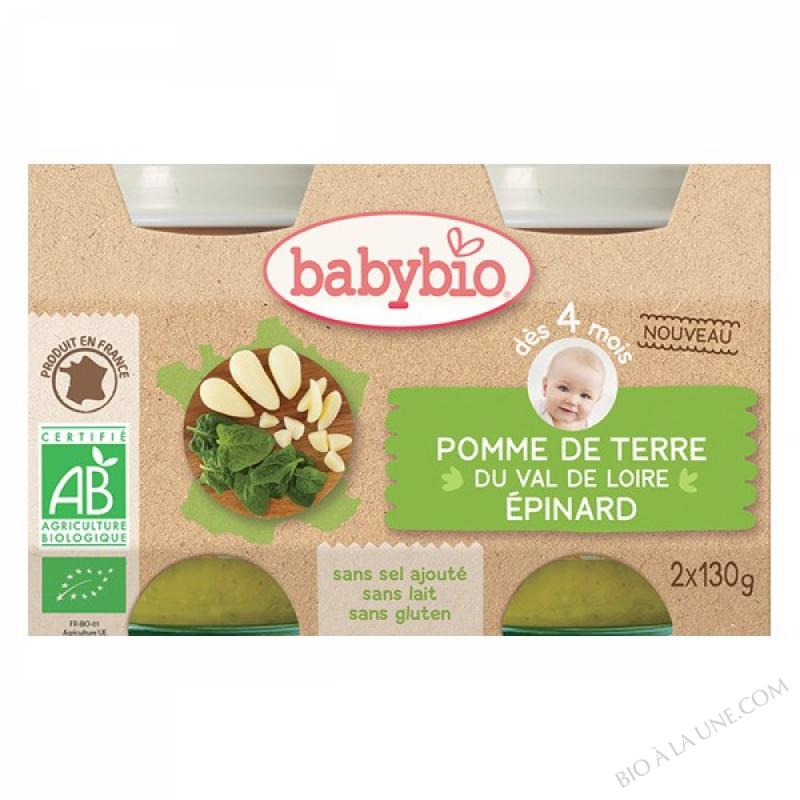 BABYBIO Pot Pomme de terre Epinards